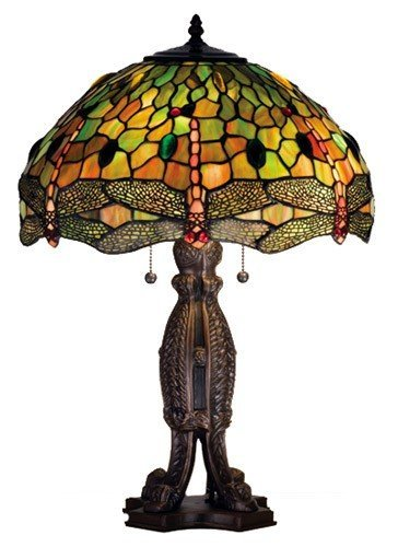 Tiffany Hanginghead Dragonfly Table Lamp ()
