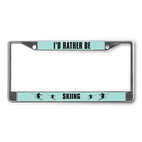 MY OTHER CAR IS A UFO Metal License Plate Frame Tag Holder Two Holes