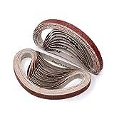 3/8 Inch x 13 Inch Sanding Belt | 80 Grit Aluminum
