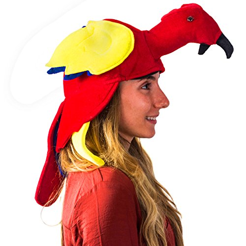 Thanksgiving Themed Party Costumes (Parrot Hat - Jimmy Buffet Hat - Parrothead Hat - Costume Hat - Parrot Costume by Tigerdoe)
