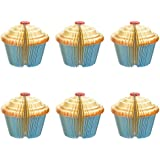 Memo Notes - 6-Pack 3D Cupcake Memo Pads for Students, Home, Desk Decorations, Office Supplies, 3.7 x 3.5 x 3.7 Inches