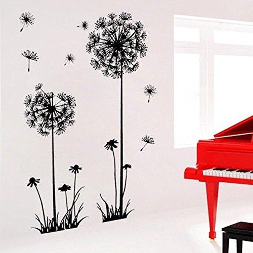 decorative-dandelion-wall-stickers-brown-wallpaper-decorativos-adhesivos-de-pared-de-papel-tapiz-de-