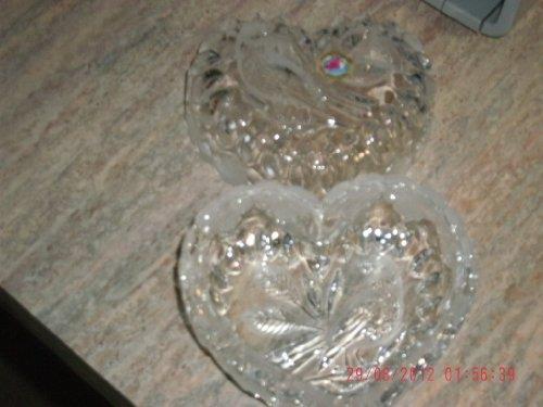 (Vintage Hofbauer Made in Germany Byrdes Bird Collection Lead Crystal Heart Trinket)