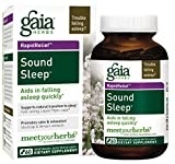 Gaia Herbs Sound Sleep, Vegan Liquid Capsules, 60 Count - Herbal Sleep Aid Promotes Relaxation & Aids in Falling Asleep Quickly, Organic Kava Kava, Valerian Root