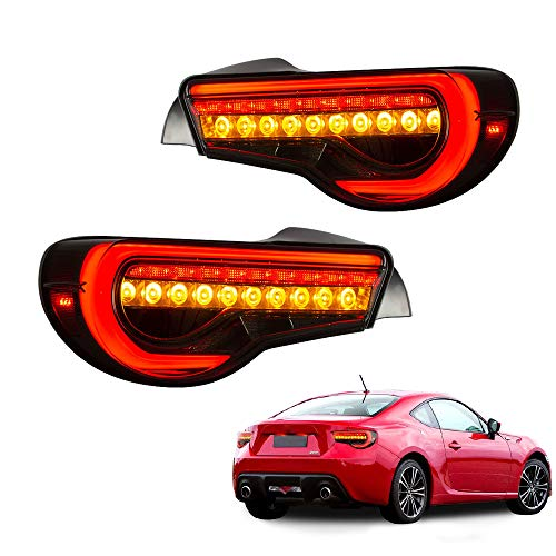 MOSTPLUS LED Smoked Tail Lights for 12-19 Toyota 86 13-16 Scion FRS 13-19 Subaru BRZ