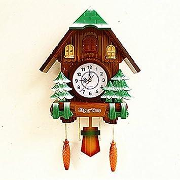 CNBBGJ Relojes europeos, retro reloj de cuco, salón silenciar el reloj de cuco, Decoración de pared,UN: Amazon.es: Hogar