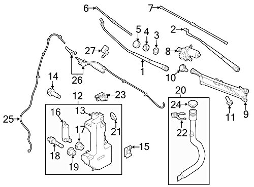Ford Oem Washer Fluid Reservoir Filler Pipe Bk3z17e785a Image 20