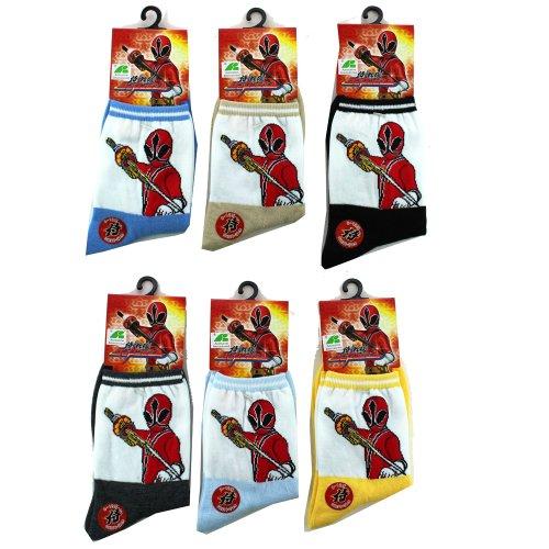 (3 Pairs Power Rangers Socks (Assorted) - Assorted Power Rangers Socks)