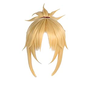 SUNCOS Straight High Temperature Fiber Pink Longer Cosplay Wigs Synthetic Anime Hair (Mordred)