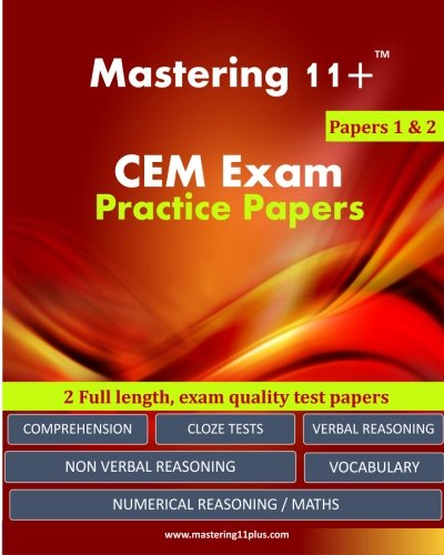 11+ CEM Exam Practice Papers - Pack 1: Mastering 11+ ashkraft educational