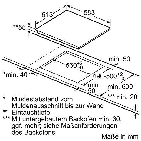 Neff t46bt60 N0 hobs eléctrico/Inducción/58,30 cm/De La ...