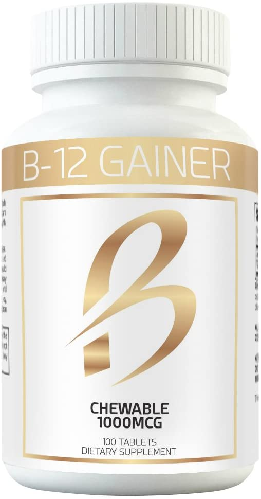 Gain Weight Fast w Weight Gainer B-12 Chewable Absorbs Faster Than Weight Gain Pills for Fast Massive Weight Gain in Men and Women While Opening Your Appetite More Than Protein: Health & Personal Care
