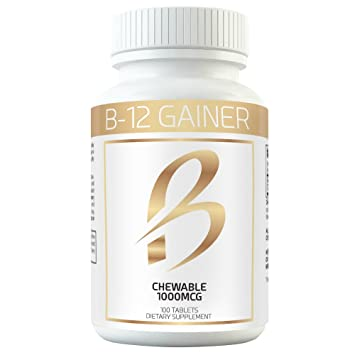 Gain Weight Fast w Weight Gainer B-12 Chewable Absorbs Faster Than Weight  Gain Pills for Fast