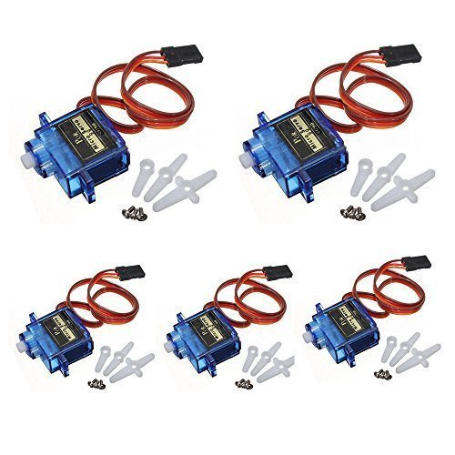 SG90 Micro Servo Motor with High Torque Low RPM for Arduino RC Robot Helicopter Airplane Drones Radio Toys Control