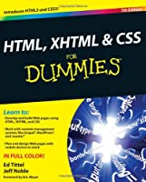 HTML, XHTML & CSS For Dummies, 7th Edition Front Cover