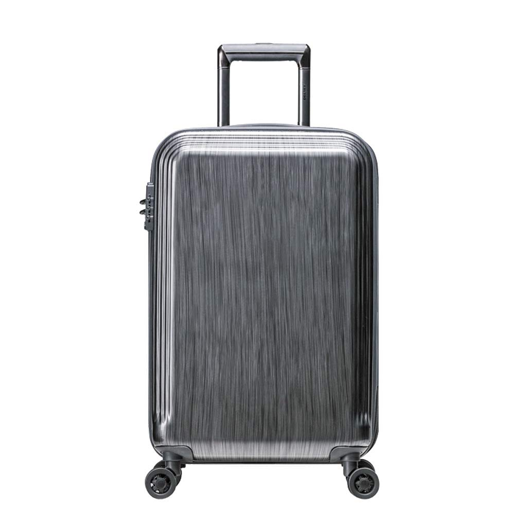 耐圧飛散防止スーツケース 20インチのABS&PCのトロリーケースユニセックスTSAのパスワードロック拡張可能なユニバーサルホイールスチールグレー (色 : Steel Gray)   B07H2Y57L9