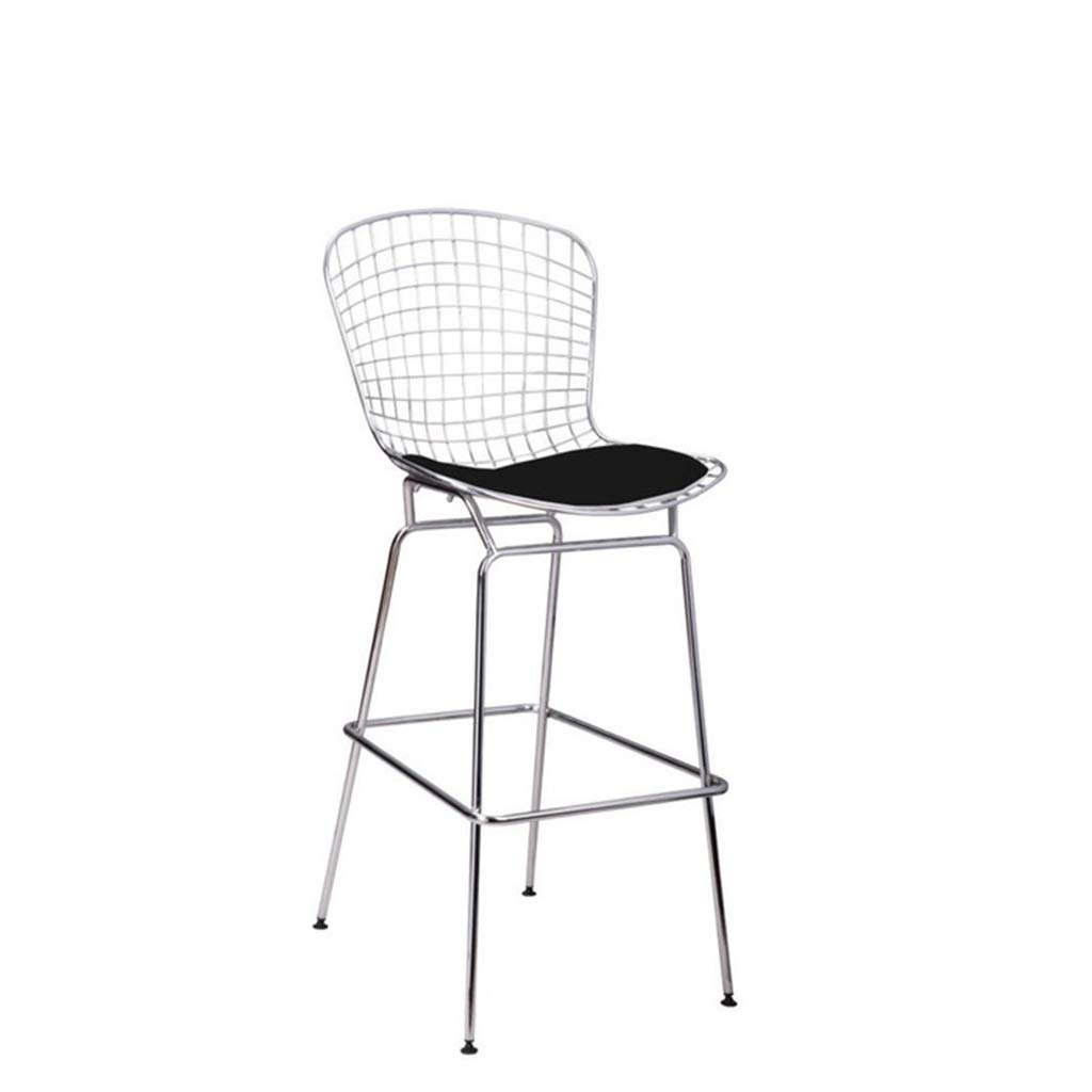 Amazon com lrzs furniture nordic hollow iron wire chair metal mesh chair wrought iron high bar chair american retro bar stool creative back chair color