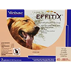 Effitix Solution for Dogs [45-88.9 lb] (3 count)