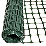Mutual 14900 HDPE Safe-T-Edge Diamond Link Safety Fence, 50' Length x 4' Width, Green