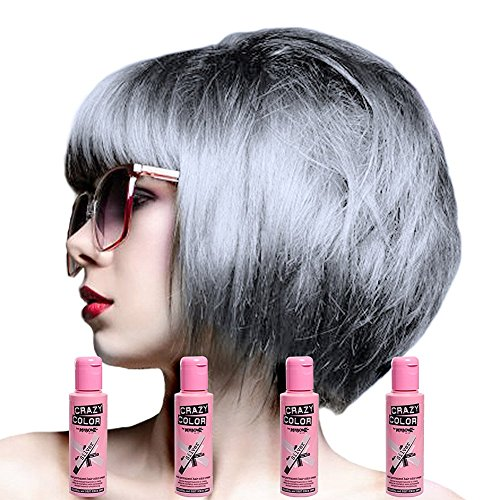 Crazy Color Women's Semi-Permanent Color Hair Dye 4 Pack - One Size, (Silver)