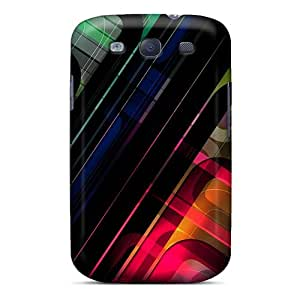 For Arnoldha845 Galaxy Protective Cases, High Quality For Galaxy S3 3d Graphics Colorful Scheme Skin Cases Covers