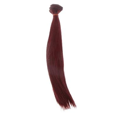 25x100cm DIY Perruque Cheveux Raides Pour 1/3 1/4 1/6 Barbie BJD Doll SD Poupée Accessoire - #13