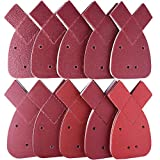 #7: AUSTOR 100 Pieces Mouse Detail Sanding Sheets Sandpaper with Extra 2 Tips, Hook and Loop Assorted 40/60/ 80/100/ 120/180/ 240/320/ 400/800 Grits to Fit Black and Decker Detail Palm Sander