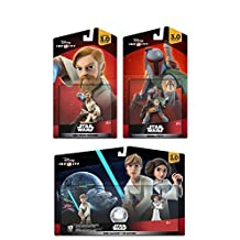 Disney Infinity 3.0 Star Wars: Boba Fett + Luke & Leia Set + Obi-Wan Kenobi NEW