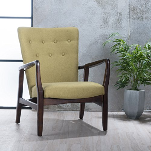 Suffolk French Style Fabric Arm Chair Wasabi