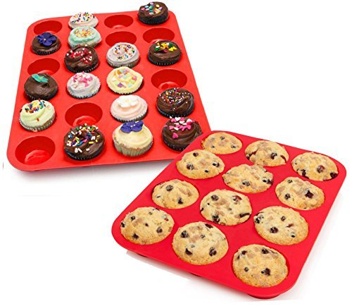 My Muffin Tins | 12 Cups Silicone Cupcake / Muffin Pan Mold, Nonstick Surface Bakeware Cupcake Maker, Food Grade Nontoxic, Safe for Microwave (450F) Freezer Dishwasher