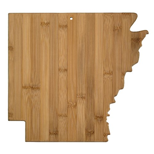 Totally Bamboo Arkansas State Shaped Bamboo Serving and Cutting Board