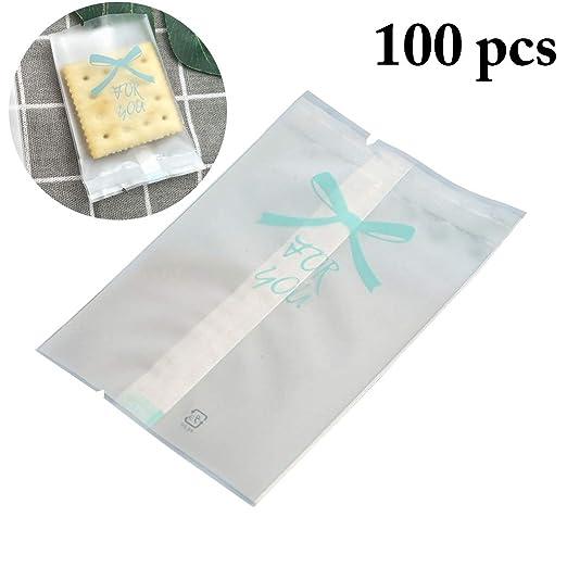Bolsas de pastelería, JUSTDOLIFE 100 unidades 3 en x 4 en bolsa de ...