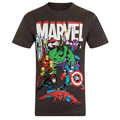 Marvel Comics – T-shirt met Hulk Iron Man Thor voor jongens – Officieel – Marvel Comics cadeau