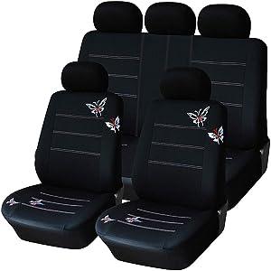 QXCOM Universal Auto Full Coverage Seats Covers Flax Fiber Car Seat Cover for alfa Romeo 156 Giulietta a3 8l 8p 8v sportback a4 b5 b6 b7 Avant b8 b9 a6 c5 c6 c7 4f Avant