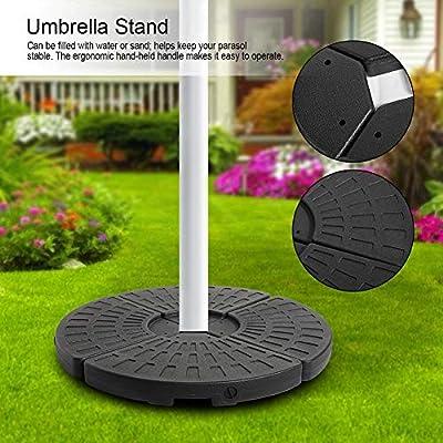 Soporte de Sombrilla 102 x 102 x 8cm Base de Prasol de 4 Partes Soporte para Parasol de Jardín: Amazon.es: Hogar