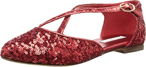 Dolce & Gabbana Kids Girl's Paillettes Sandal (Little Kid/Big Kid) Ruby Red Sandal (Girls Red Sequin Shoe Covers)