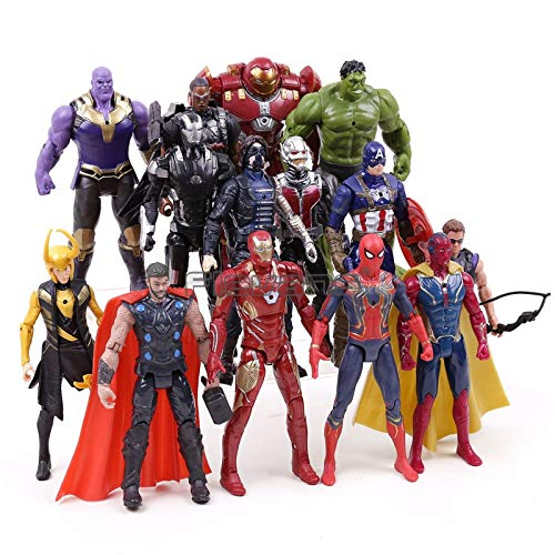 PAPCOOL Set 14 Action Figures 6.7 inch The Legends Series Hot Toys 2019 Big Mini Small Toy Figure Birthday Christmas Halloween Collectible Collectibles Gift Collectable Gifts for Young Kids Baby Boys -