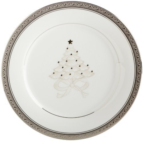 - Noritake Crestwood Platinum 9-Inch Holiday Accent Plates, Set of 4 by Noritake