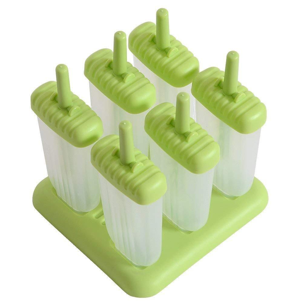 Frmarche Lot DE 6 Moules /à Glace R/éutilisable Haute Qualit/é Moule Esquimaux en Plastique Rose