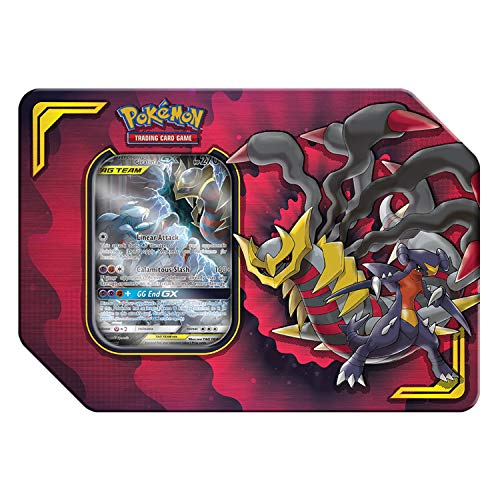 Pokemon TCG: Tag Team Giratina & Garchomp + 4 Booster Pack + 1 Metal Tag Team Gx Marker + 1 of 3 Foil Tag Team Pokémon-GX Tin (Best Dark Pokemon Team)