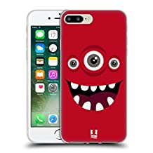 Head Case Designs Red Jolly Monsters Soft Gel Case for Apple iPhone 5 / 5s / SE