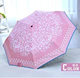 Pink Automatic Parasol Ultraviolet-Proof Sun Umbrella Cute Womens Rain Umbrella