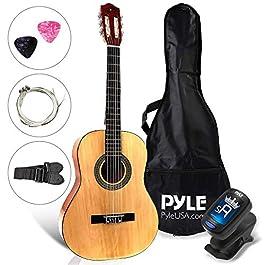 "Beginner 30"" Classical Acoustic Guitar – 1/4 Junior Size 6 String Linden Wood Guitar w/ Gig Bag, Tuner, Nylon Strings…"