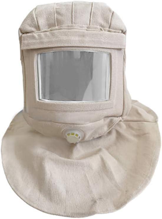 Magiin Casco de Chorro de Arena, Capucha Completa con Máscara para Arenado Abrasivo y de Protección Contra el Viento y el Polvo