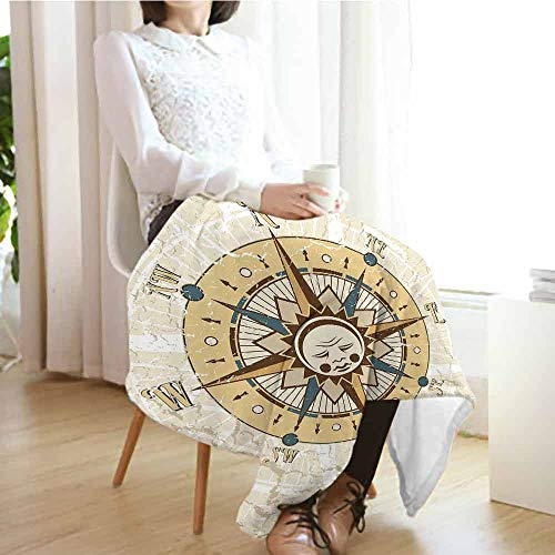 """Children Blanket 80""""x60"""" Compass,Windrose on Tainted for sale  Delivered anywhere in USA"""