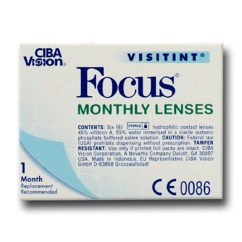 Ciba Vision Focus Monthly Visitint Monatslinsen weich, 6 Stück / BC 8.9 mm / DIA 14.0 / -0,75 Dioptrien