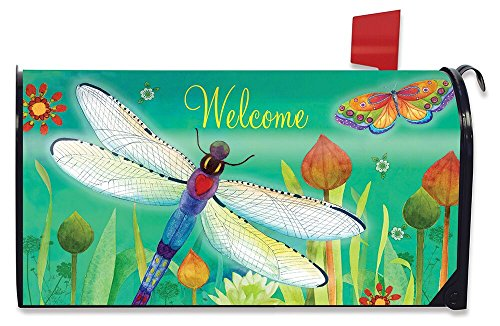 Spring Mailbox Cover - Briarwood Lane Dragonfly Dream Spring Magnetic Mailbox Cover Standard