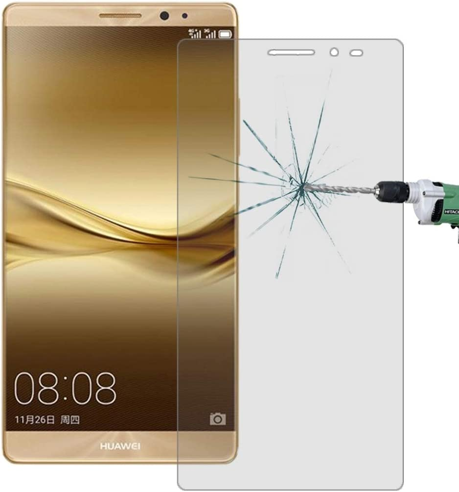 Surface Hardness 2.5D Curved Explosion-Proof Tempered Glass Film iPartsBuy Screen Tempered Glass Film 100 PCS for Huawei Mate 8 0.26mm 9H