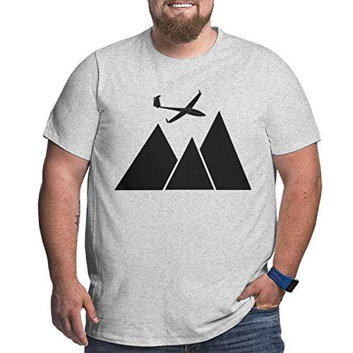 - Sky Rider Glider Pilot Plus Size Men T-Shirt Short Sleeve Crewneck Tee Gray