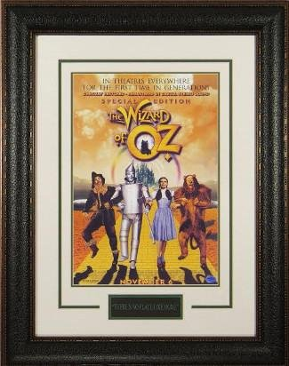 Wizard of Oz 11x17 Masterprint Movie Poster Leather Framing Jack Haley,Judy Garland,Ray Bolger, Burke, Hamilton (22x30)